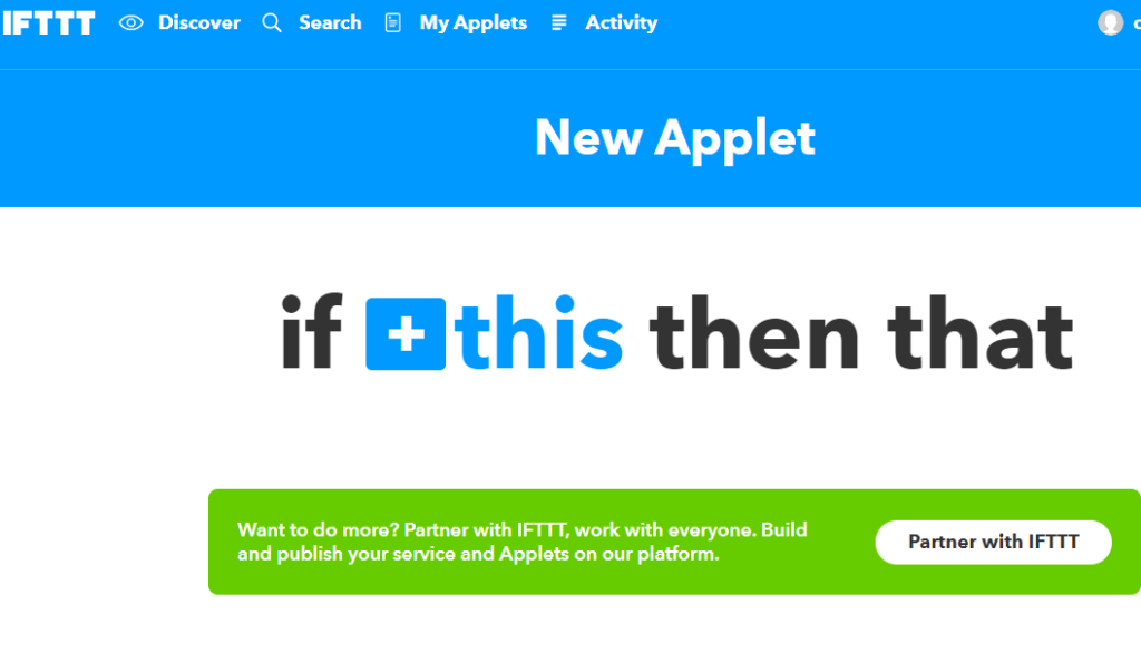 IFTTT Applet Creation for Google Home