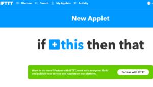 IFTTT Applet Creation for Google Home
