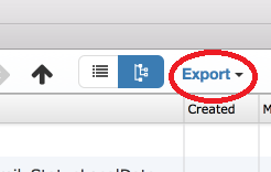export sqlite database