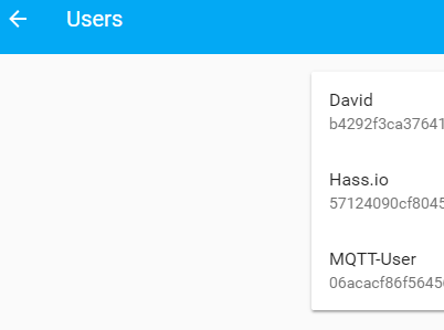 new home assistant user for mqtt
