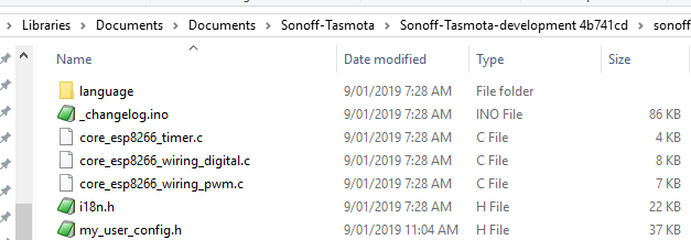 sonoff configuration file tasmota flashing